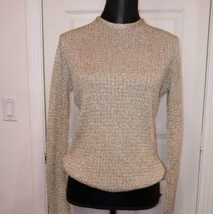 Vintage Gold Lame Sweater - M